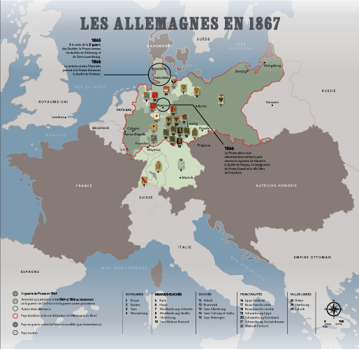 Exhibition FranceGermany Presentation - Germany unification map