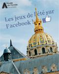 Jeux sur la page Facebook du musée de l'Armée