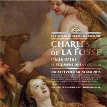 Affiche de l'exposition De la Fosse au château de Versailles