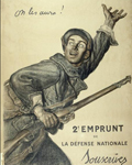 Affiche On les aura ! 2e emprunt de la défense nationale. Souscrivez.