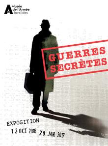 """Affiche de l'exposition """"Guerres secrètes"""""""