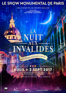 Affiche de la Nuit aux Invalides 2017