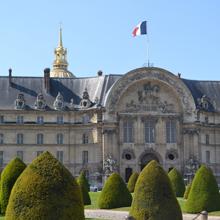 Vue de la façade Nord de l'hôtel des Invalides